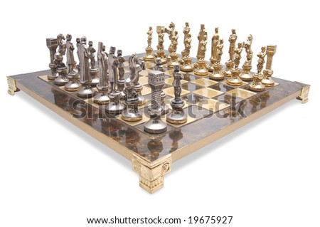 Marble Brass Chess Set