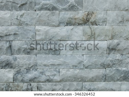 Marble Brick Wall Abstract Background Texture - stock photo