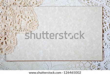 Marble card  with lacy - stock photo