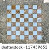 Marble chess board - stock photo