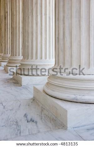 Marble columns - stock photo