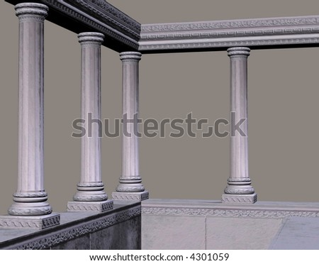 Marble columns and walls perfect for an ocean view.