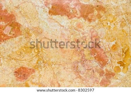Marble countertop shows excellent detail of multi-colored veins and patterns. - stock photo