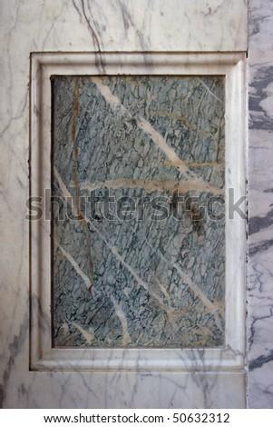 marble frame - stock photo