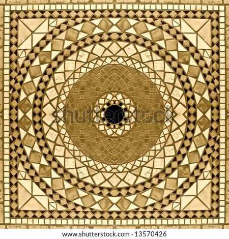 Marble mosaic background 2. Sepia version - stock photo
