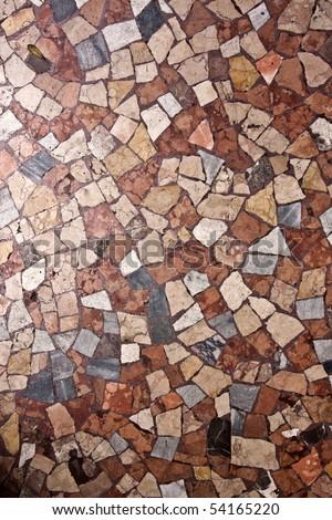 Marble mosaic floor - stock photo
