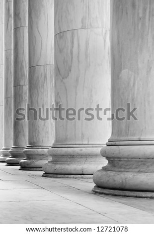 Marble pillars - can illustrate strength, government, history, etc. - stock photo