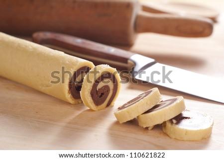 Marble Pinwheel Cookies. Unsharpened file - stock photo