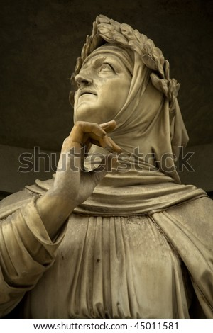 marble sculpture of Francesco Petrarca