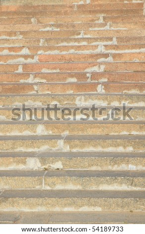 marble stairs on quay on river - stock photo