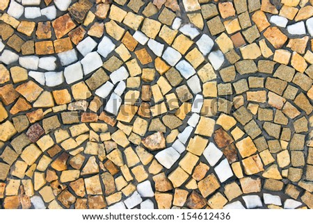 Marble stone mosaic texture as background - stock photo