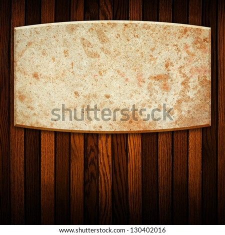 marble stone on wood board