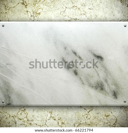 marble stone tablet - stock photo