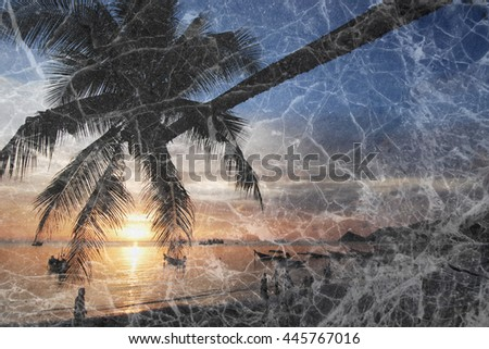 marble stone texture tile granite with nature photo dye screen - stock photo