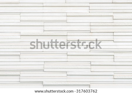 Marble tile wall texture detailed pattern background in white cream grey color tone: Modern stone wall tiled patterned detail textured backdrop for interior design and decoration  - stock photo