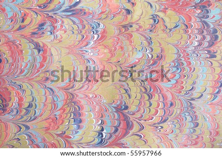 Marbled paper artwork background - stock photo