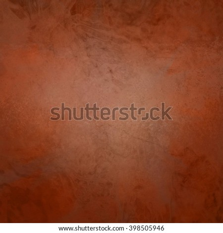 marbled textured background, glossy glass pattern of wavy texture shapes, deep orange autumn color - stock photo