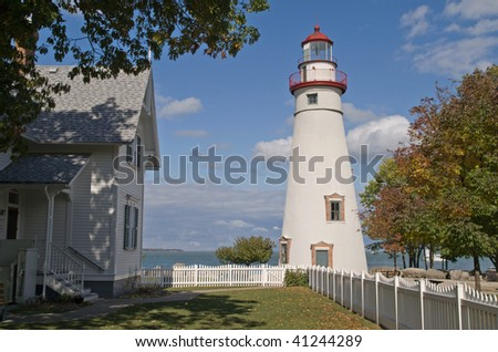 Marblehead Lighthouse, Lake Erie, Ohio, USA