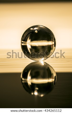 Marbles glass ball - stock photo
