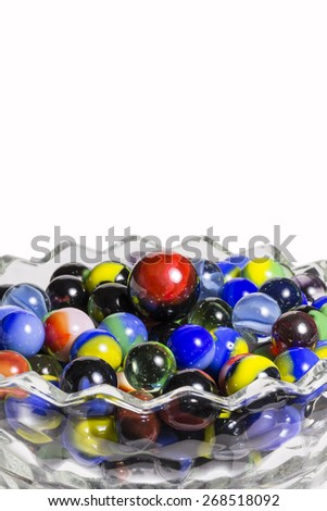 Marbles In Bowl - stock photo
