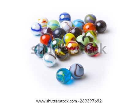 Marbles isolated on White background