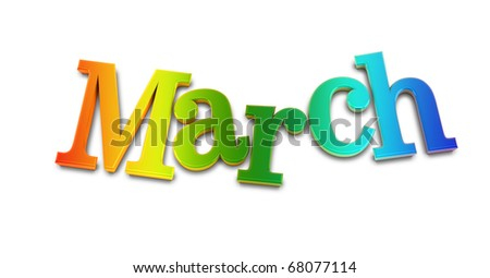 march - stock photo
