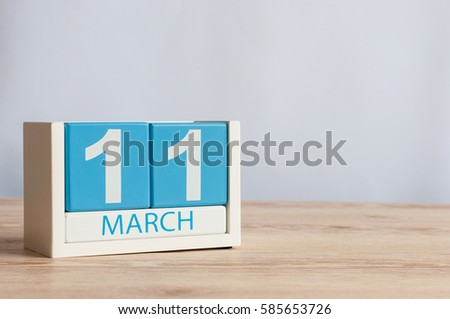 March 11th image march 11 wooden stock photo 381820516 for Table th font color