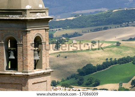 Marche (Italy) - Panoramic view near Arcevia at summer