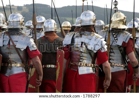 Marching Roman Army - stock photo