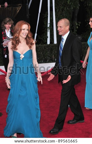 Marcia Cross & Woody Harrelson at the 14th Annual Screen Actors Guild Awards at the Shrine Auditorium, Los Angeles, CA. January 27, 2008  Los Angeles, CA. Picture: Paul Smith / Featureflash