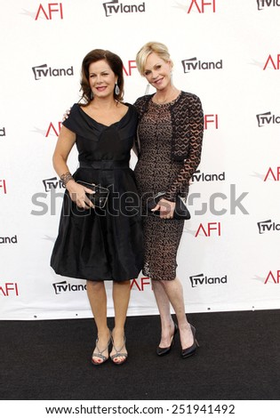Marcia Gay Harden and Melanie Griffith at the 40th AFI Life Achievement Award Honoring Shirley MacLaine held at the Sony Studios in Los Angeles, United States, 070612. P - stock photo