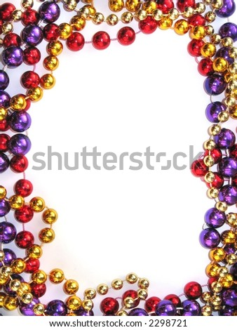 mardi gras bead necklace outline
