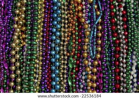 Mardi Gras Beads - stock photo