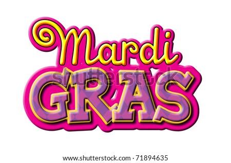 Mardi Gras type treatment - stock photo