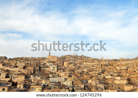 Mardin, small town near Diyarbakir in Turkey - stock photo