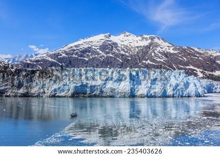 Margerie Glacier in Glacier Bay National Park, Alaska - stock photo