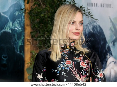 Margot Robbie at the Los Angeles premiere of 'The Legend Of Tarzan' held at the Dolby Theatre in Hollywood, USA on June 27, 2016. - stock photo