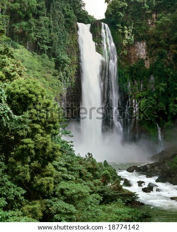 Maria Cristina falls near the City of Waterfalls, Iligan, Mindanao, Philippines