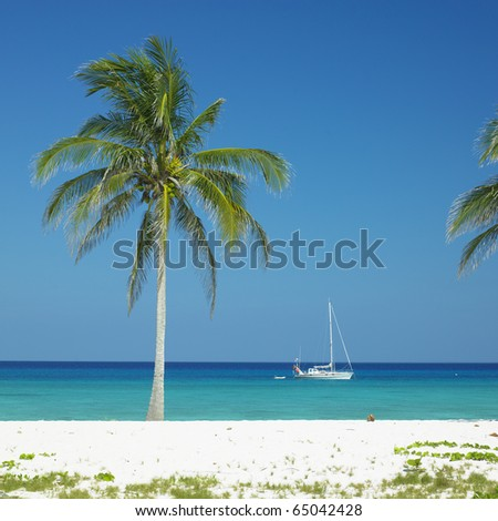 Maria la Gorda Beach, Pinar del Rio Province, Cuba - stock photo