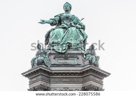 Maria Theresia monument in front of the Kunsthistorisches museum in Vienna, Austria. The monument was built in 1888.