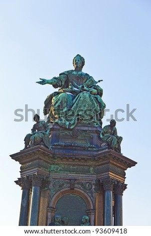 Maria Theresia Monument, in Vienna - stock photo