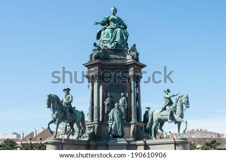 maria theresien statue  - stock photo