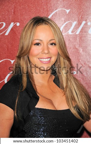 Mariah Carey at the 2010 Palm Springs International Film Festival Awards Gala, Palm Springs Convention Center, Palm Springs, CA. 01-05-10 - stock photo