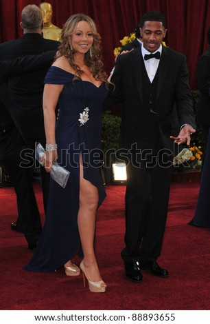Mariah Carey & Nick Cannon at the 82nd Annual Academy Awards at the Kodak Theatre, Hollywood. March 7, 2010  Los Angeles, CA Picture: Paul Smith / Featureflash