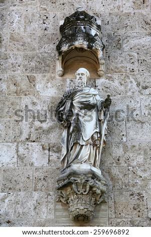 MARIJA BISTRICA, CROATIA - OCTOBER 26: Saint Paul, basilica Assumption of the Virgin Mary in Marija Bistrica, Croatia, on October 26, 2013 - stock photo