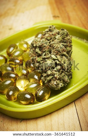 Marijuana and Cannabis in a Pill, Weed Capsules