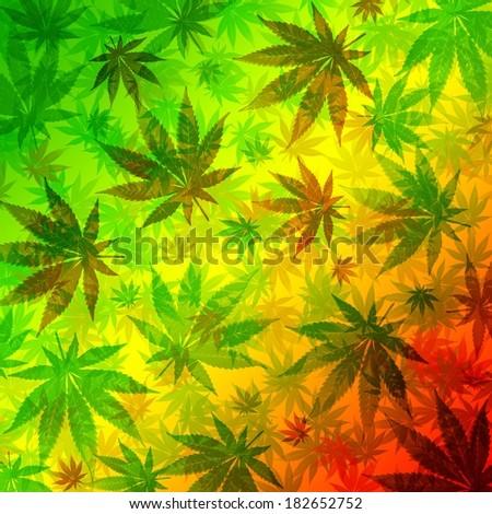 Marijuana Cannabis Leaves Pattern - stock photo