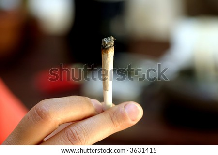 Marijuana cigarette #4 - stock photo