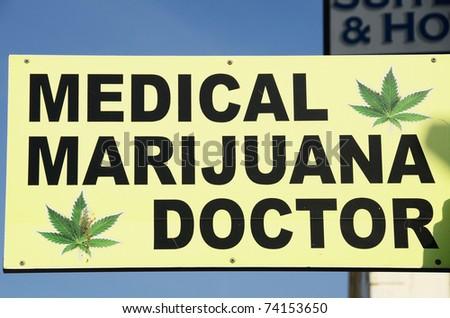 Marijuana Doctor on Venice Beach near Los Angeles California - stock photo