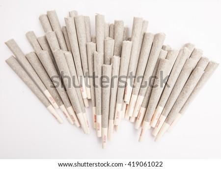 Marijuana Joints - Ready to Smoke - stock photo